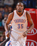 Jan 25, 2014, Oklahoma City Thunder vs Philadelphia 76ers - Kevin Durant Photographic Print by Jesse D. Garrabrant
