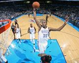 Feb 20, 2014, Miami Heat vs Oklahoma City Thunder - Kevin Durant Fotografisk tryk af Layne Murdoch