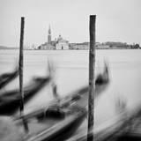 Italy, Veneto, Venezia District, Venice. San Giorgio Maggiore. Gondolas. Photographic Print by Francesco Iacobelli