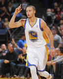 Feb 20, 2014, Houston Rockets vs Golden State Warriors - Stephen Curry Fotografisk trykk av Rocky Widner