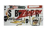Collaboration No.19 Reproduction procédé giclée par Jean-Michel Basquiat