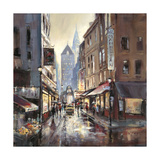Off Broadway Giclee Print by Brent Heighton