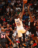 Jan 29, 2014, Oklahoma City Thunder vs Miami Heat - Kevin Durant, LeBron James Photographic Print by Issac Baldizon