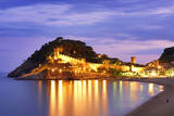Spain, Catalonia, Costa Brava, Tossa De Mar, Overview of Bay and Castle at Dusk (Mr) Photographic Print by Shaun Egan