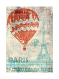 Paris Travel Premium Giclee Print by Ken Roko