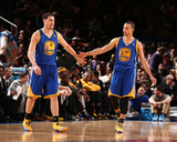 Feb 28, 2014, Golden State Warriors vs New York Knicks - Klay Thompson, Stephen Curry Photographic Print by Nathaniel S. Butler
