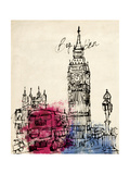Big Ben in Pen Premium Giclee Print by Morgan Yamada