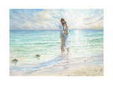 Seaside Embrace Premium Giclee Print by Karen Wallis