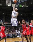 Rocky Widner - Feb 25, 2014, Houston Rockets vs Sacramento Kings - DeMarcus Cousins Photo