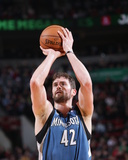 Feb 23, 2014, Minnesota Timberwolves vs Portland Trail Blazers - Kevin Love Photographic Print by Sam Forencich