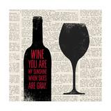 Wine Lino Print 2 Prints by Evangeline Taylor