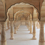 India, Rajasthan, Jaipur, Amber Fort Photographic Print by Michele Falzone