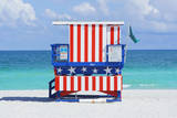 Lifeguard Station, South Beach, Miami, Florida, Usa Photographic Print by Marco Simoni