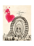 London Eye in Pen Giclee Print by Morgan Yamada