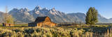 John Moulton Historic Barn, Mormon Row, Grand Teton National Park, Wyoming, Usa Fotodruck von Peter Adams
