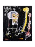 Jean-Michel Basquiat - Untitled (Black Skull) Digitálně vytištěná reprodukce