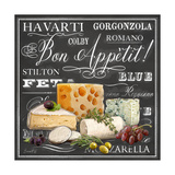Gourmet Cheese Collection Print by Chad Barrett