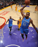 Feb 13, 2014, Oklahoma City Thunder vs Los Angeles Lakers - Kevin Durant Fotografiskt tryck av Andrew Bernstein