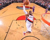 Mar 3, 2014, Los Angeles Lakers vs Portland Trail Blazers - LaMarcus Aldridge Photographic Print by Sam Forencich