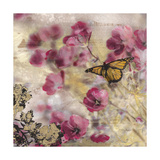 Dreamtime Butterflies 1 Print by Matina Theodosiou