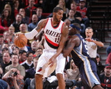 Jan 28, 2014, Memphis Grizzlies vs Portland Trail Blazers - LaMarcus Aldridge Photographic Print by Sam Forencich
