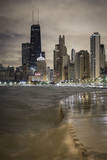 Usa, Illinois, Chicago, the Hancock Tower and Downtown Skyline from Lake Michigan Photographic Print by Gavin Hellier