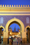 Bab Boujeloud Gate, Fez, Morocco, North Africa Photographic Print by Neil Farrin