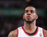 Jan 25, 2014, Minnesota Timberwolves vs Portland Trail Blazers - LaMarcus Aldridge Photographic Print by Sam Forencich