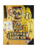 Untitled (Orange Sports Figure) Gicleetryck av Jean-Michel Basquiat