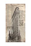 175 antiker Stadtplan Fifth Avenue, New York City, USA Kunstdrucke von Evangeline Taylor
