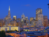 Downtown and Transamerica Building, San Francisco, California, Usa Photographic Print by Marco Simoni