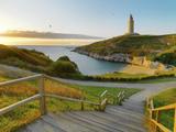 Spain, Galicia, La Coruna, Torre De Hercules Photographic Print by Shaun Egan