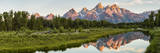 Mount Moran in Oxbow Bend of the Snake River in Grand Teton National Park, Wyoming, Usa Fotografie-Druck von Peter Adams