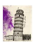 Tower of Pisa in Pen Affiches par Morgan Yamada