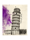 Tower of Pisa in Pen Prints by Morgan Yamada