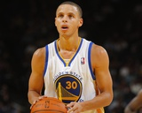 Oct 18, 2010, Golden State Warriors vs Portland Trail Blazers - Stephen Curry Photographic Print by Rocky Widner