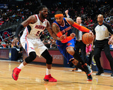 Feb 22, 2014, New York Knicks vs Atlanta Hawks - Carmelo Anthony Fotografiskt tryck av Scott Cunningham