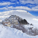 Italy, Umbria, Perugia District, Monti Sibillini Np, Norcia, Castelluccio Di Norcia in Winter. Photographic Print by Francesco Iacobelli
