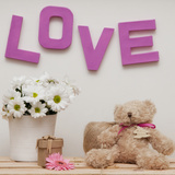 Love My Teddy Bear Photographic Print by  Cazeba