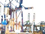 Grues Portuaires - Ostende Zeebrugge Photographic Print by Laurent Grizon