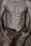 Topless Man, Black and White Photographie par Laetitia Julien