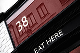 38 Eat Here Leon London Photographic Print by Leon Le Baron