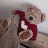 Teddy Bear with Sweater Photographic Print by Leon Le Baron
