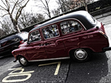 The Red Cab Photographic Print by Leon Le Baron