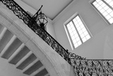 Old Staircase Railing Black and White Photographic Print by Laetitia Julien