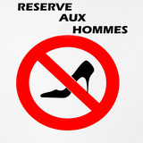 Prohibition Sign with Black Pump Photographic Print by Laetitia Julien