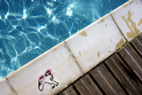 Glasses on the Edge of a Pool Photographic Print by Laetitia Julien