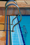 Top of a Pool Ladder Photographic Print by Laetitia Julien