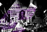 Elle Mag Subway Ad Graphic Purple Photographic Print by  Cazeba