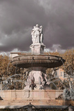 Fountain in Aix-En-Provence and Cloudy Sky, France Photographic Print by Laetitia Julien